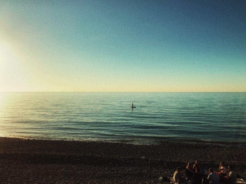 Frankreich-Hautot-su-mer-Strand