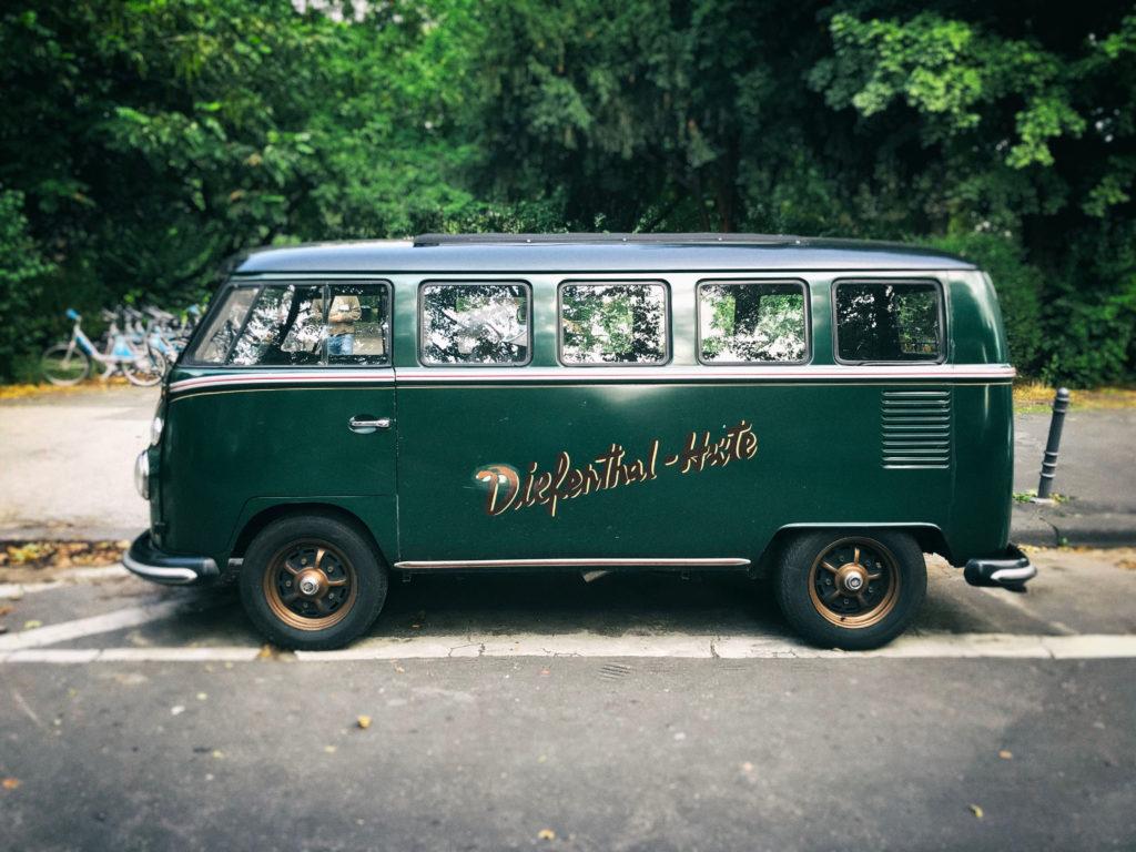 VW-Bus T1 im Werbeeinsatz